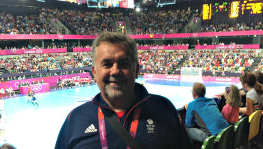 Team GB Handball coach Bill Baillie, from Cumbernauld