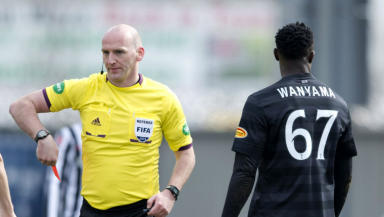 Victor Wanyama, Celtic, red card, referee Bobby Madden, March 2013.