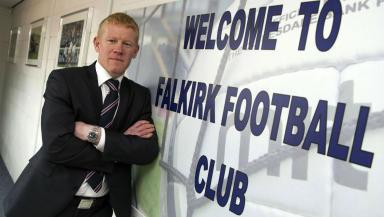 Gary Holt, Falkirk manager, April 2013.