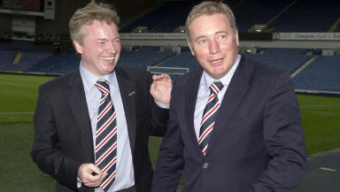 Former Rangers owner Craig Whyte (left) with manager Ally McCoist.