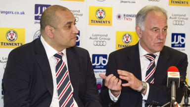 New Rangers owner Charles Green (right) and new Rangers non-executive Director Imran Ahmad