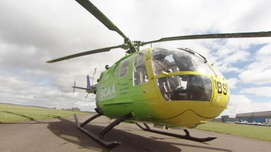 Air ambulance: Man hit by falling tree in Highlands (file pic).