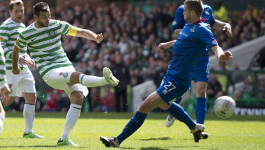 Joe Ledley netted Celtic's second goal in the 4-1 win over Inverness.