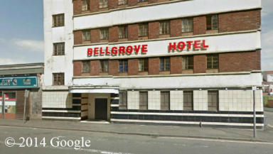 Bellgrove Hotel, homeless hostel in Gallowgate, Glasgow, given rave reviews on TripAdvisor. Google Street View.