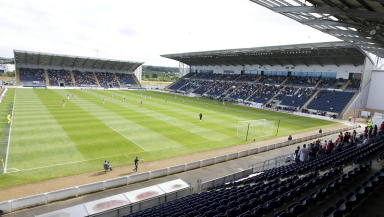 Coins thrown at Falkirk Stadium.
