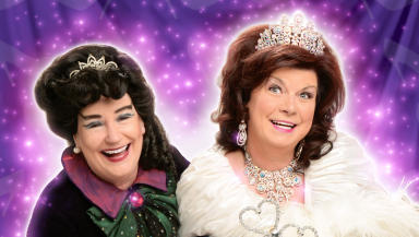 Elaine C Smith and Barbara Rafferty star in 2013 pantomime Cinderella.