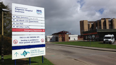 Raigmore Hospital: Emergency department waiting room closed.