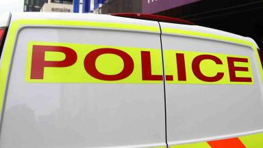 Generic view of Strathclyde police van. Quality news image #policegeneric
