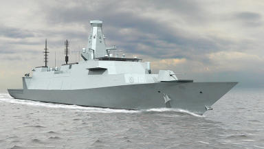 Warship: Project to build eight Type 26 frigates on the Clyde delayed (file pic).