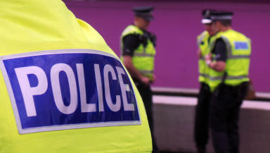 Police: The man was taken to Glasgow Royal Infirmary where he is undergoing treatment for facial injuries.
