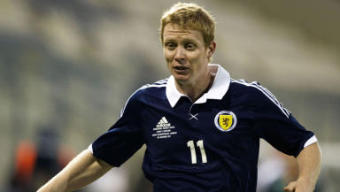 Barry Robson in action for Scotland in 2012.