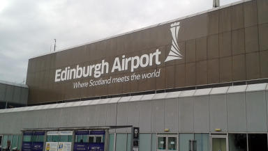 Edinburgh Airport: Emergency services were on standby (file pic).