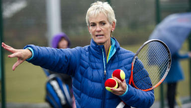 Services to tennis: Judy Murray honoured with OBE.