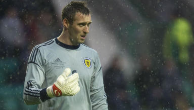Banned: The goalkeeper will not take part in next week's derby.