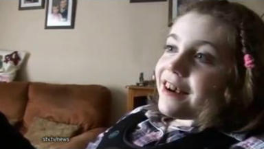 Abbie Jackson, severely disabled girl in Orkney whose family have been told there are not enough respite carers for her.