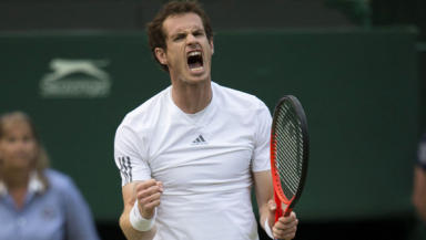 Andy Murray at Wimbledon, 5 July 2013.