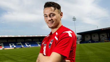 Marc Klok is officially unveiled as a Ross County player