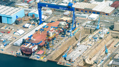Rosyth Dockyard: The ships will cost more than £6bn.