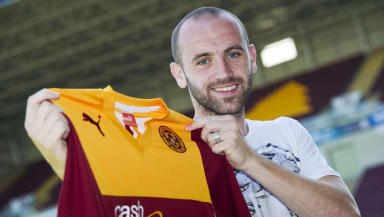 James McFadden is presented as a Motherwell player.