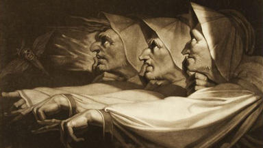 The Weirs Sisters from Shakespeare's MacBeth by Henry Fuseli.
