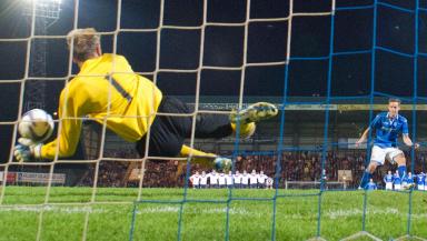 Steven MacLean penalty against FC Minsk