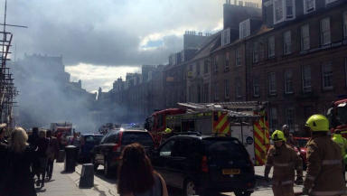 Castle Street Edinburgh fire on August 9 2013. UGC quality image