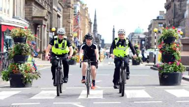 James Lyne warbiking around Edinburgh looking for unsecure networks.