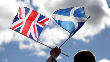 Union flag and saltire independence referendum good generic quality image