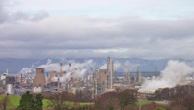 Grangemouth: Home to Europe's biggest shale gas storage tank.