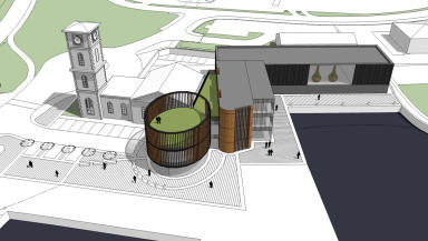 The Glasgow Distillery artist's impression for development at Queen's Docks on banks of the River Clyde.