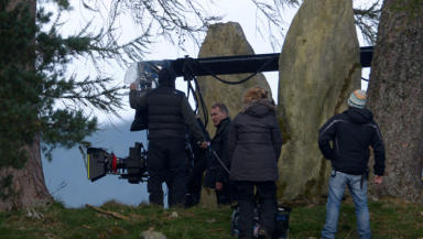 Filming Outlander US TV series in Perthshire Scotland Based on novels by Diana Gabaldon