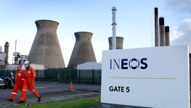 Ineos: The energy company currently imports shale gas to Scotland.