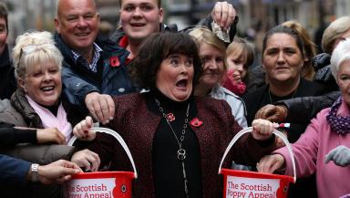Susan Boyle publicises Scottish Poppy appeal PoppyScotland on 6 November 3012 in Glasgow