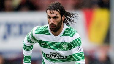 Georgios Samaras in action for Celtic.