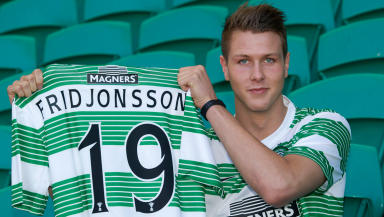 New Celtic striker Holmbert Fridjonsson.