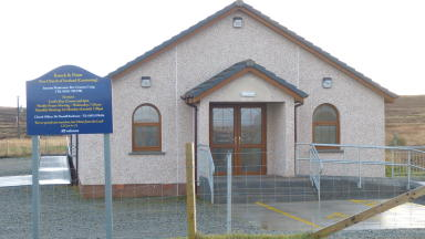 Knock and Point Free Church of Scotland in Stornoway, where Calum Macleod was suspended from. Image from Iain Maciver. 25/11/13.