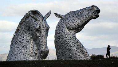 Kelpie statues Grangemouth Falkirk November 27 2013 Quality image