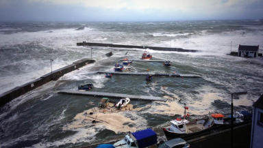 Tidal surge: Parts of North Sea reached highest tides since 1950s.