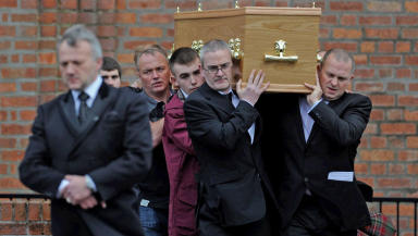 Funeral: Mark O'Prey was laid to rest.