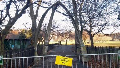 Jawbone arch at the Meadows in Edinburgh.