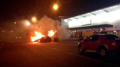 A 19-year-old man has been charged with reckless conduct after a car burst into flames at a tribute to film star Paul Walker, who died in a crash in California on November 30.  A group of car enthusiasts congregated at Aberdeen's Links Road Retail Park on Saturday 14, say Police Scotland.