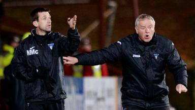 Neil McCann, Jim Jefferies, Dunfermline Athletic, December 2013.
