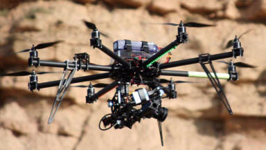 Drone hacks: Experts say data could be stolen.