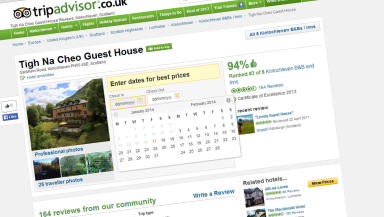 Tigh Na Cheo Guest House in Kinlochleven, Lochaber tripadvisor page January 17 2014