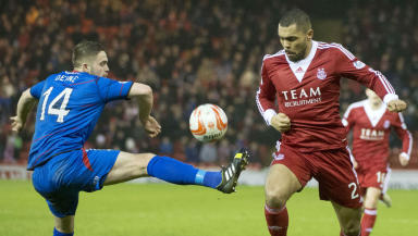 Aberdeen 0-1 Inverness, January 2014.