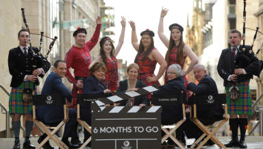 Six months to Glasgow Commonwealth Games photo op in Glasgow, January 23 2014