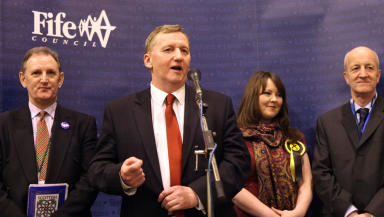 Alex Rowley wins the Cowdenbeath by-election, January 24 2014