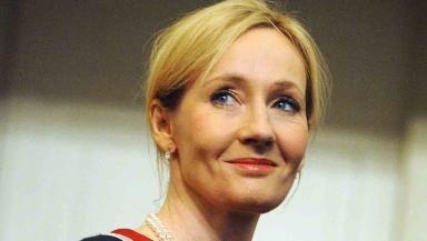 Author JK Rowling during a ceremony where she was given the Edinburgh University Benefactor's award