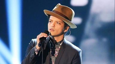 Bruno Mars: The star was last in Glasgow in April.