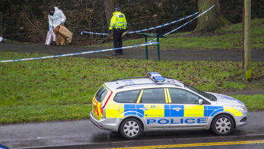Body pulled from river near London Road in Kilmarnock. Image sent in with permission to use by a Sam Millar. 08/02/14